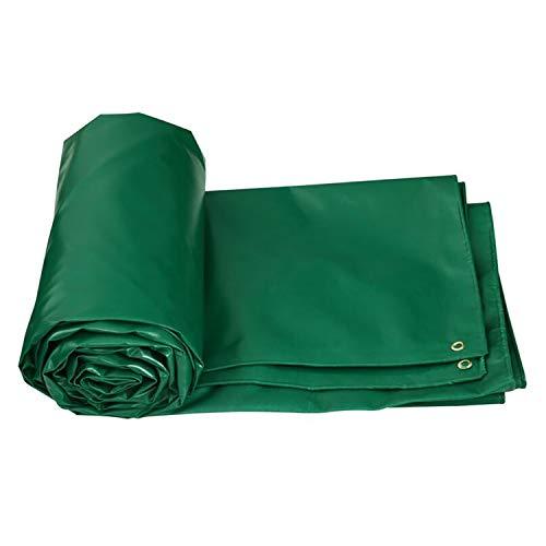 AQAWAS Große Abdeckung Abdeckplane Wasserdicht Wasserdicht, Abdeckungen für Lkw-Ernte-Zelt usw Außenbezüge Gewebeplane Robust,Green_4x6m