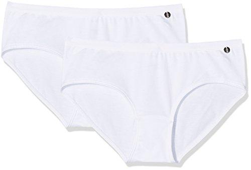 Schiesser Mädchen Unterhose 95/5 2er Pack, 2 Weiß (Weiss 100), 152 (Herstellergröße: S)
