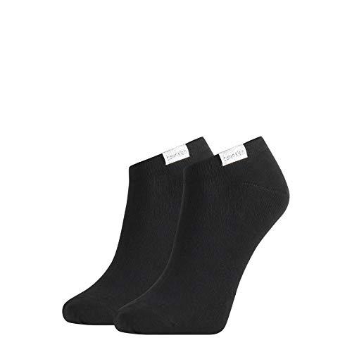 Calvin Klein Women Liner 2p Organic Cotton Reese Chaussettes, Noir, taille unique Femme