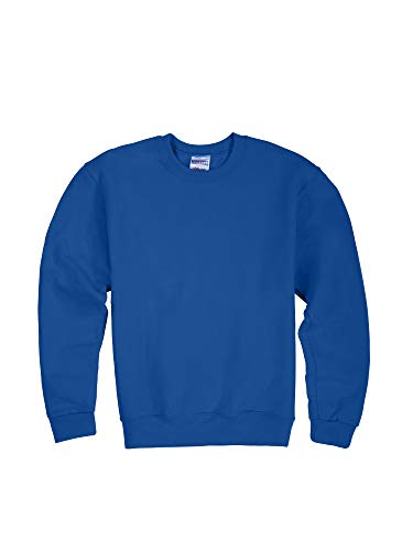 Jerzees Youth Fleece Crew Sweatshirt, Royal, Medium
