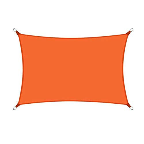 sun shade sail Toldo de bloqueo UV para exteriores, patio, jardín, patio trasero 0H9J5Z (color: naranja, tamaño: 2 x 4 m)