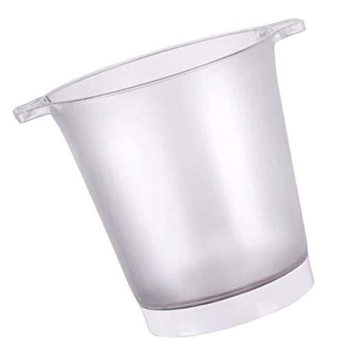 STOBOK Cubo de refrigeración LED que cambia de color de plástico luminoso Champagne Wine Drinks Cooler Bucket Beer Wine Ice Bucket para Ktv Clubs Bar Home Wedding Party Tube