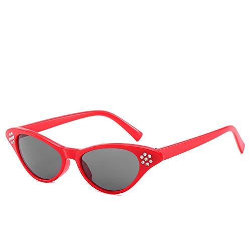 P-WEIAN zonnebril, katten, mode, persoonlijkheid, diamant, zonnebril voor vrouwen Moyen Pièce grise grosse boîte rouge