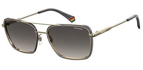 Polaroid PLD 6115/s, gafas de sol Hombre, gold black, 56
