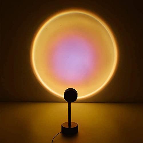 BALALALA Sunset Lamp,Sunset Proyección LED Proyección, Rotación 180°, Romántico Visual, Proyector de Puesta de Sol, USB, lámpara de pie Moderna, lámpara de Noche para salón