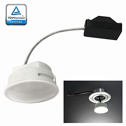 LED-module lamp gesatineerd voor inbouwspots 5W verbruik 4000K warm wit 230V 400Lumen vervangt 40W MR16 lage inbouwdiepte