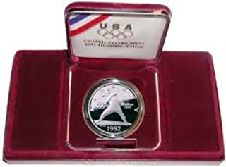 1992 S Olympic Baseball Comes with US Mint Packaging Dollar Coin Proof Grade