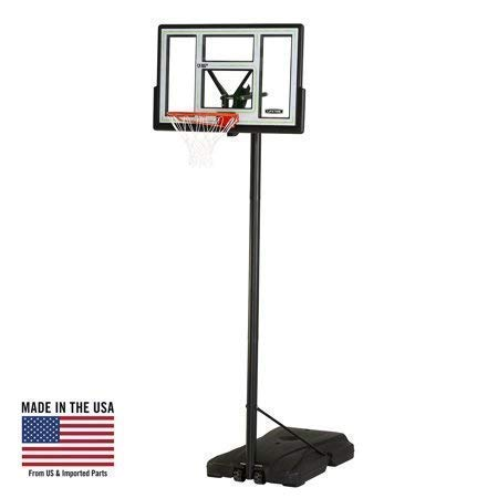 Best Bargain Lifetime Adjustable Portable Basketball Hoop (46-Inch Polycarbonate), 90584