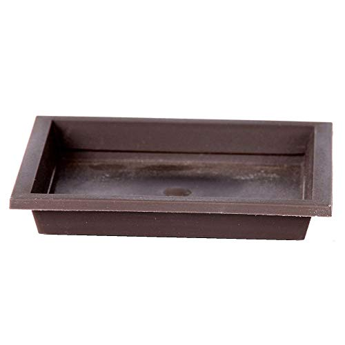 Bonsaï soucoupe carrée env. 8,5 x 8,5 cm-plastique 53056