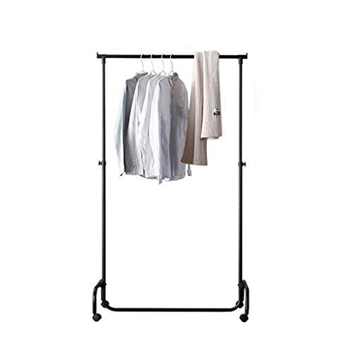 Hallway Furniture AOYANQI-Percheros De Metal Barra de Colgar, se Puede Mover la Ropa al Aire Libre del Estante Sitio del Dormitorio Apartamento Chaqueta Base de Altura Ajustable 102.5-172CM Multiusos