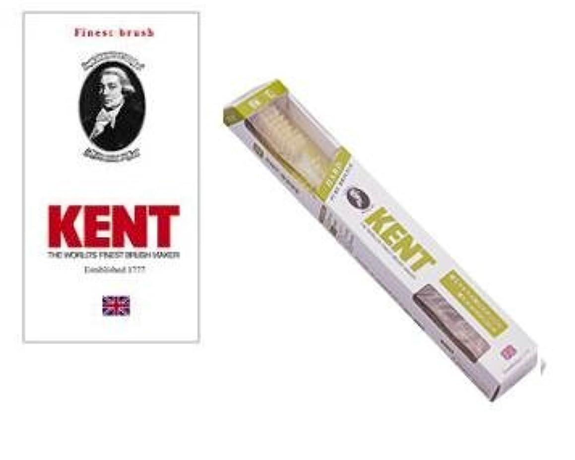 エミュレートする岩市場KENT(ケント) 豚毛歯ブラシ ラージヘッド かため 2本