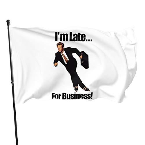 Generic Brands Banderole de drapeaux « Late For Business » pour patineur à roulettes