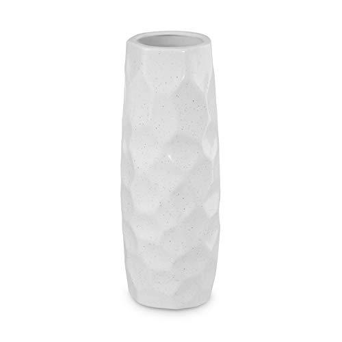 Dr.Cerart Moderne Deko Vase Blumenvase Bodenvase Weiß