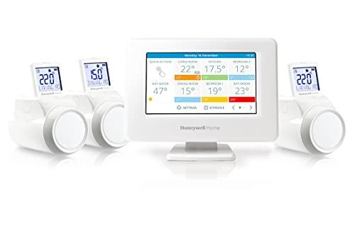 Honeywell Home THR99C3103 evohome THR99C3103-Kit de Inicio aplicación y Wi-Fi, Blanco, 2.1 x 13.9 x 10.1 cm