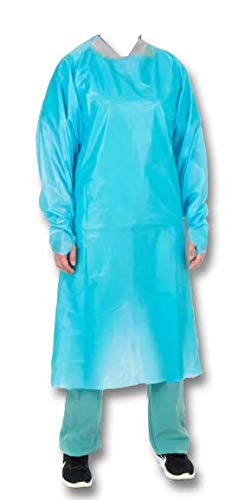 AAMI Level 3 Polyethylene Isolation Gown, Non-Surgical, Non Sterile, One-Size-Fits-Most, 100/case