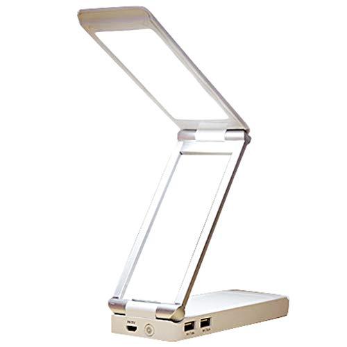 LED デスクライト パワーバンク(2イン1) 電気スタンド 4000mAh電池(最高輝度 8時間,最低輝度 48時間)5段階調光 折りたたみライト 卓上スタンド・テーブルランプ USB充電対応 PC作業・仕事・寝室・勉強・旅行・防災・非常灯・読書ランプ 収納&携帯が便利 自然光 目に優しい [並行輸入品]