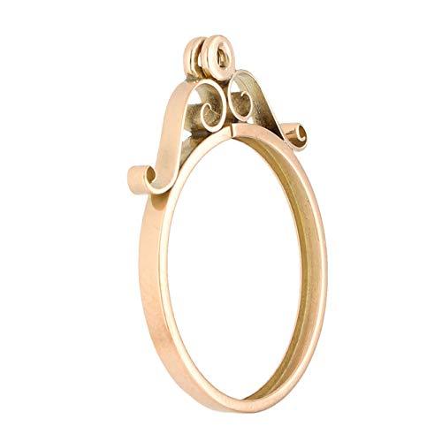 Jollys Jewellers Colgante de oro rosa de 9 quilates para hombre (22 x 27 mm)