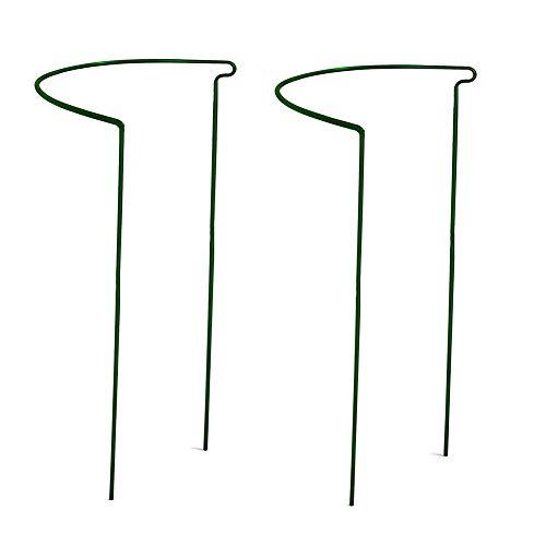 Mekta Staudenstütze, Blumen- und Staudenhalter, für Blumen, Rankengewächse und Stauden, Garten Unterstützung Stakes Semicircle Pflanze Unterstützung Ringe für Blumen 2PCS
