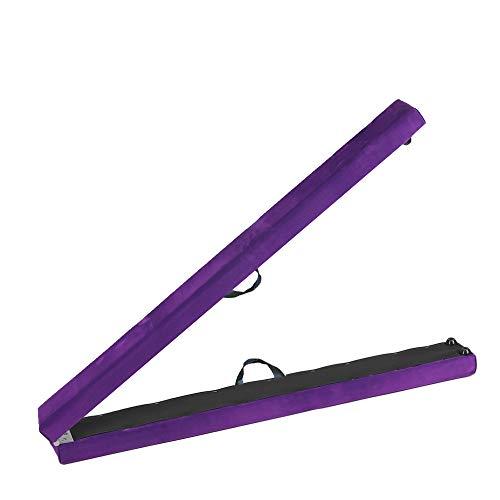 Cherryou Schwebebalken, zusammenklappbar, Gymnastikgerät für Zuhause/ Fitnessstudio, violett