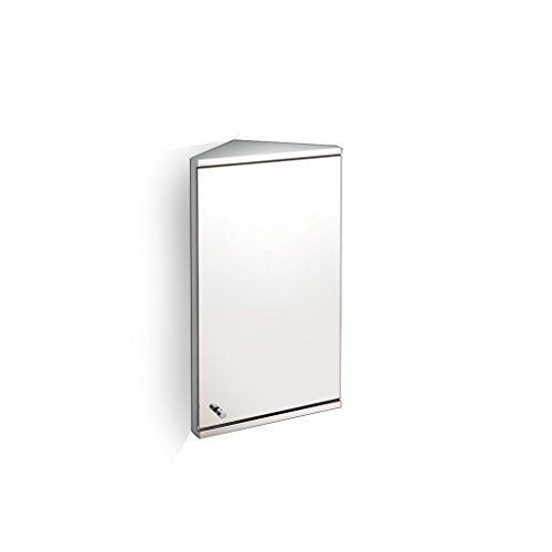 OYY Manufacture Edelstahl Badezimmer Spiegelschrank, Spiegel Box Badezimmerspiegel, mit Regal Dreieck Schrank (60 * 30cm) (Farbe : R, größe : 60 * 31cm)