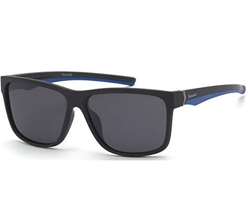 SQUAD Gafas de sol Polarizada para Hombre Montura Completa Rectangulares (C4)