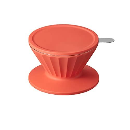 Wlej Ekspres Do Kawy, Kubek Filtracyjny/Pokrywa Ekranu/Kubka/Kubek, Odpowiednie Do Pojemników O Średnicy 30-102mm, Szklanej Karafki Z Filtrem Ze Stali Nierdzewnej (Color : Orange)