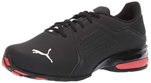 PUMA Men's Viz Runner Sneaker, Black/White, 10