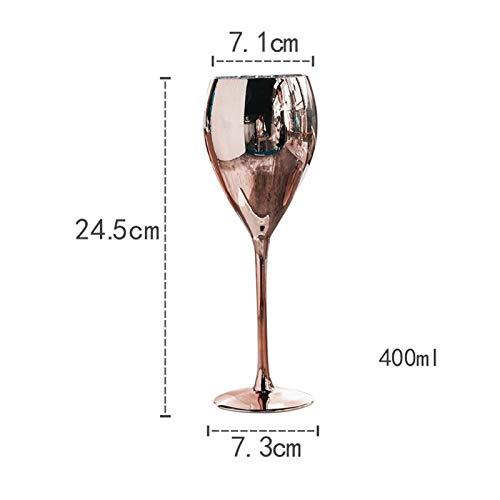 YJLLOVE YANGJIAOLIAN Copa de champán de Cristal de Vino Tinto de Lujo cubiletas para la Fiesta de Cristal de Cristal de la Boda. (Color : C)