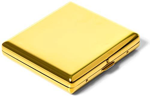 Evil Wear Premium Zigaretten-Etui Zigarettenbox Zigarettenschachtel in Gold-Farben für 20 Zigaretten