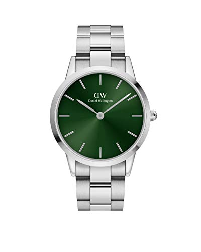 Uhren Daniel Wellington Iconic Link Emerald Silver 40mm DW00100427