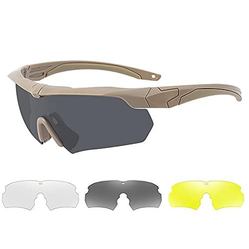 Hanone Gafas de Montar polarizadas Protección UV Multifuncional Gafas a Prueba de explosiones Gafas a Prueba de Balas Miopía A Prueba de Viento