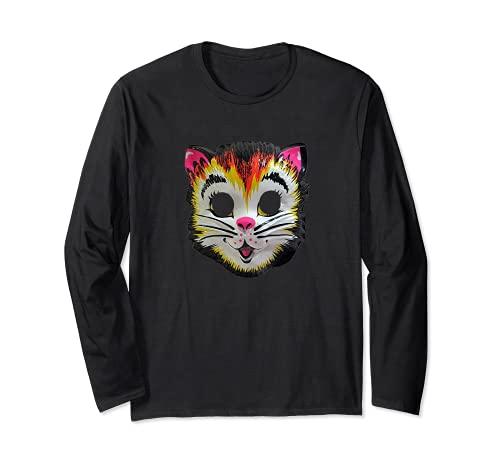 Disfraz de gato de Halloween Mscara de gatito lindo regalo divertido para nios Manga Larga