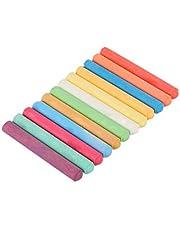 Gessetti colorati, 12 pezzi, senza polvere per bambini, lavagna, disegno, scuola (circa 1 x 7,8 cm)