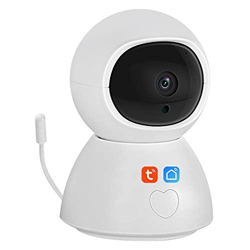 Tuya Smart Life Telecamera IP wireless WiFi, telecamera di sicurezza domestica 1080P Citofono Rilevazione movimento CCTV Sorveglianza Baby Monitor Supporto Alexa,Camera + 64g
