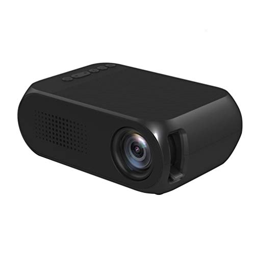 GY-HCJI Mini Portátil Projetor, Manual De 1080p del Teatro Casero LED USB Focus Projetor, Moldeada Small Wall Projetor USB Audio Sin Rejillas De TV (Color : Black)