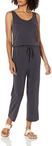 Amazon Brand Daily Ritual Women s Sandwashed Modal Blend Sleeveless Wide Leg Cropped Jumpsuit product image