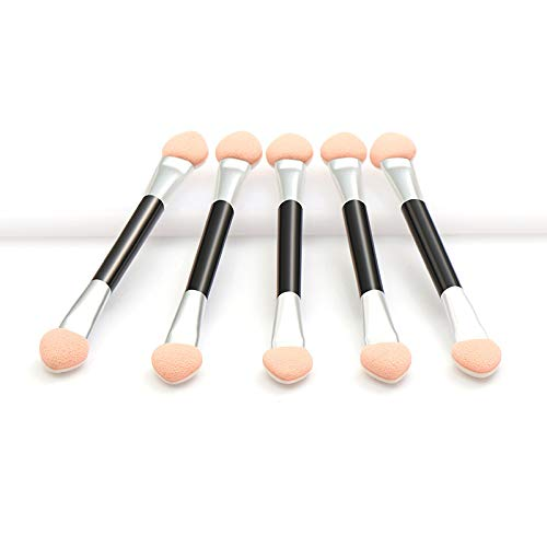 SHOPANTS Lot de 5 applicateurs de fard à paupières - Applicateur éponge ovale double face confortable - Applicateur de maquillage ovale - Pinceaux jetables pour fard à paupières