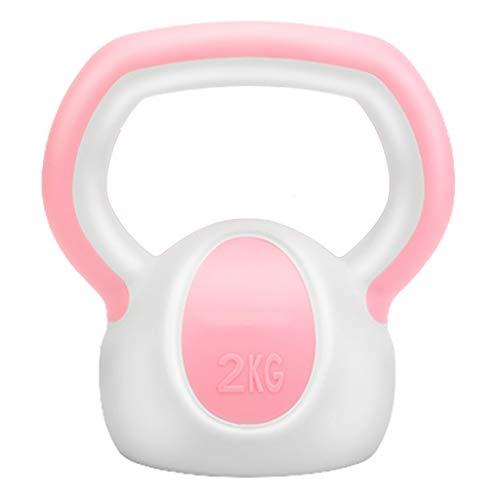 Kettlebell Stylish 2-6 Kg Kunststoff – Fitness-Kugelhantel,Zement Füllung In 3 Farbig, Studio-Qualität Für Krafttraining Gymnastik Und Heimtraining