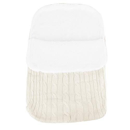 Saco de Dormir Manta Envolvente de Invierno para Bebé Recién Nacido Swaddle Wrap Manta Unisex para Cochecitos, Cunas, Sillas de Paseo de Bebé para Bebé de 0-12 meses, 62cmx48cm