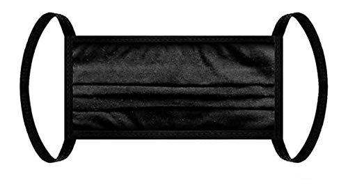 Stoff-Maske, Mund-Nasen-Maske aus 100% zertifizierter Baumwolle, mit Ohrträger, schwarz | Gesichts-Maske, Unisex, waschbar