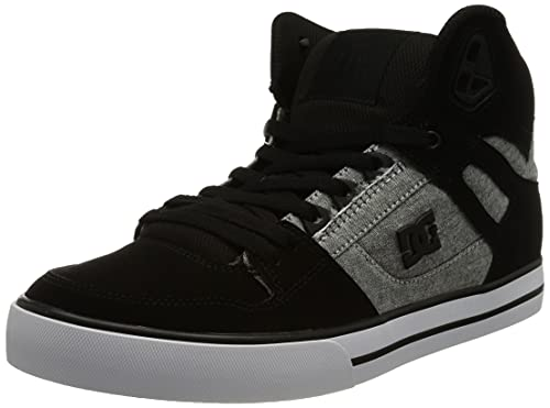 Dcshoes Herren Pure Leather High-Top Shoes Sneaker, Schwarz, 42 EU