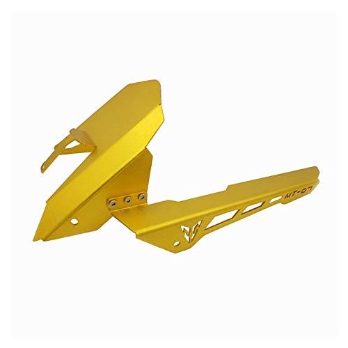 LIZCX CNC Kettenschutz Abdeckung Kotflügel hinten Reifen Hugger Kotflügel gepasst for Yamaha MT-07 FZ-07 2013-2017 MT 07 FZ 07 (Color : Gold)