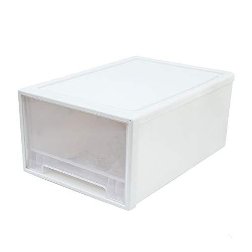 ROSG La Caja de Almacenamiento del cajón de la Caja de Almacenamiento de plástico respetuosa con el Medio Ambiente se Puede apilar y se Puede Utilizar para Guardar Ropa,artículos Diversos,Medium