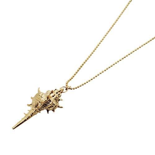 Gold Muschelschale Halskette