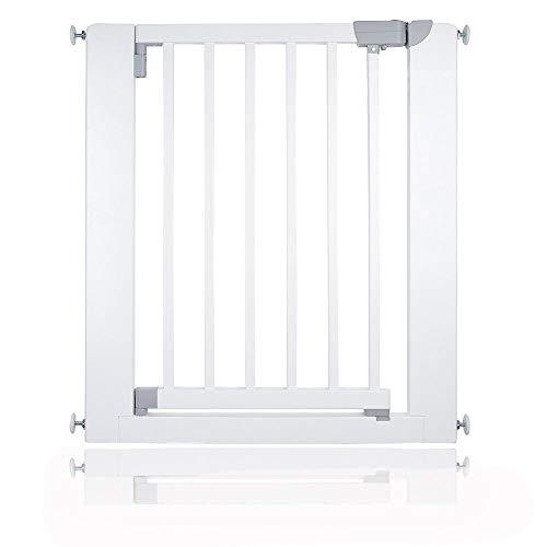 Safetots Porte en Bois pour Enfant et Animal Domestique Blanc 74-81 cm