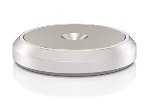 VIABLUE Discs XL für QTC und HS * Set 4 Stück * 2-teilige Discs * Silber mit Edelstahlinlay * Unterlegscheiben für Spikes, Auflageteller * Ø 25 mm
