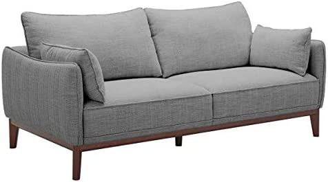Best Amazon Brand – Stone & Beam Hillman Mid-Century Sofa with Tapered Legs and Removable Cushions, 78