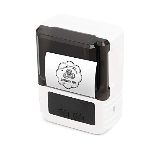 Aibecy Etikettendrucker Thermodrucker 203 dpi Unterstützung 20-50 mm Papierbreite Mehrsprachiger Druck Verwendung mit APP für Schmuck Kleidungsetikett Kompatibel mit Android iOS Smartphone