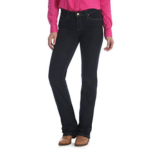 Wrangler Women's Q-Baby Mid Rise Boot Cut Ultimate Riding Jean, Dark Dynasty, 11X32