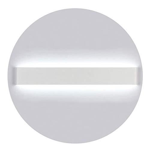 K-Bright LED Spiegellampe Badleuchte,16W,20 Zoll,Wandleuchte Schranklampe IP44,AC 86-265V Make up licht,Spiegellicht für Bild Display Wohnzimmer Flur Schlafzimmer Treppen,6000-6500K Weiß,Weiß Schale
